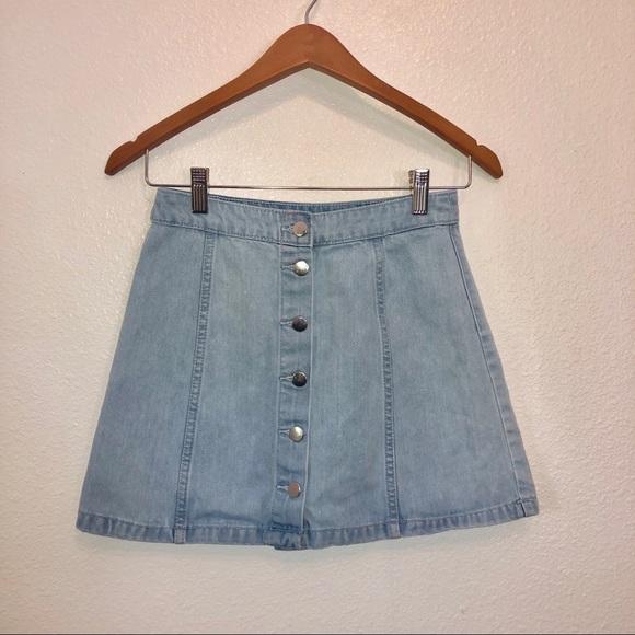H&M Dresses & Skirts - H&M | denim mini skirt button front